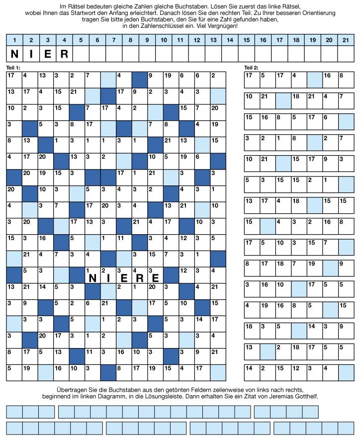 Zahlenrätsel   Kreuzworträtsel, Sudokus und Rätsel aller art